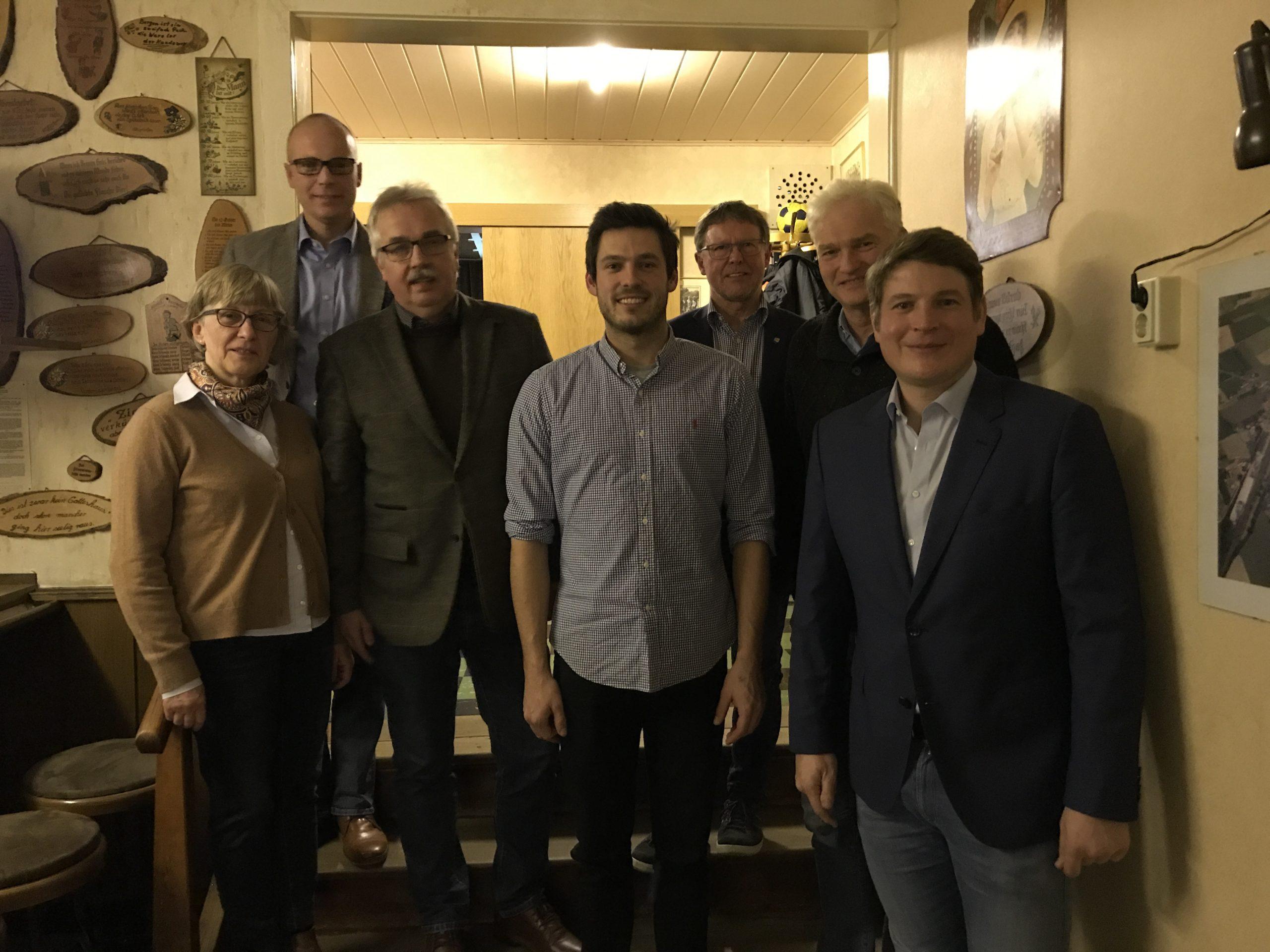 v.l.n.r.: Petra Engemann-Ludwig, Heiko Hansmann, Norbert Hofnagel, Matthäus Nutt, Werner Dürdoth, Andreas Engemann, Nicolas Aisch