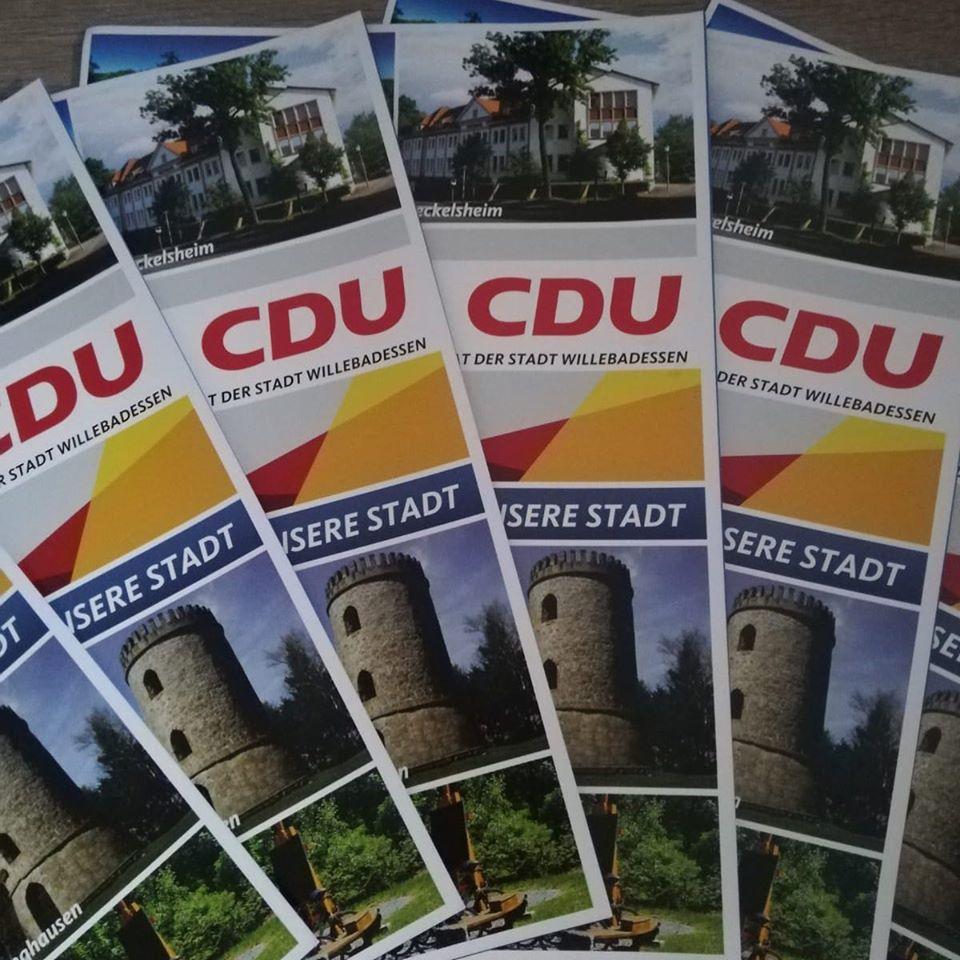 Werbung der CDU Willebadessen