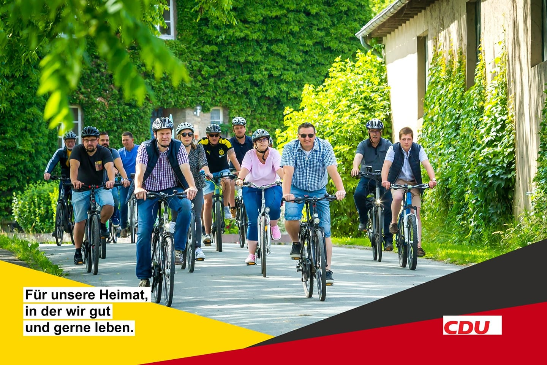 CDU-Mitglieder aus der Stadt Willebadessen bei einer Radtour