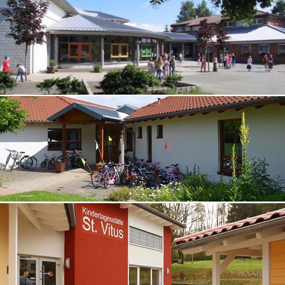 Collage verschiedener Bildungseinrichtungen